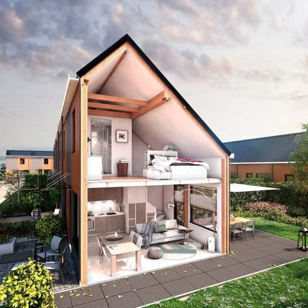 resysta gevel zijaanzicht tiny house